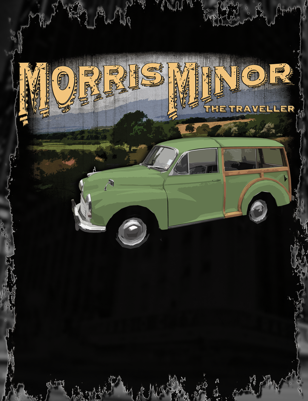 Classic Morris Minor Traveller Tee Design