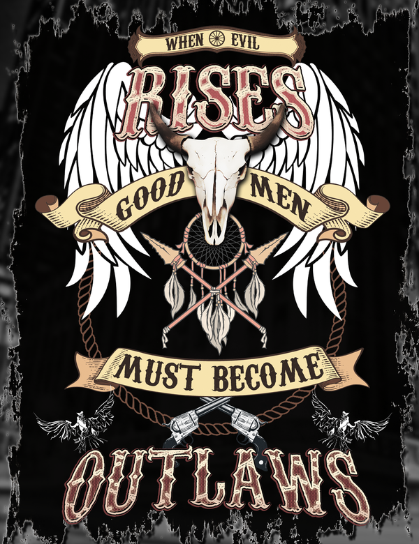 The Outlaw Life Tee Design