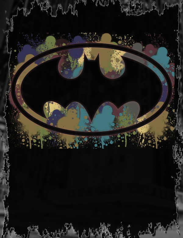 Spray Paint Batman Tee Design