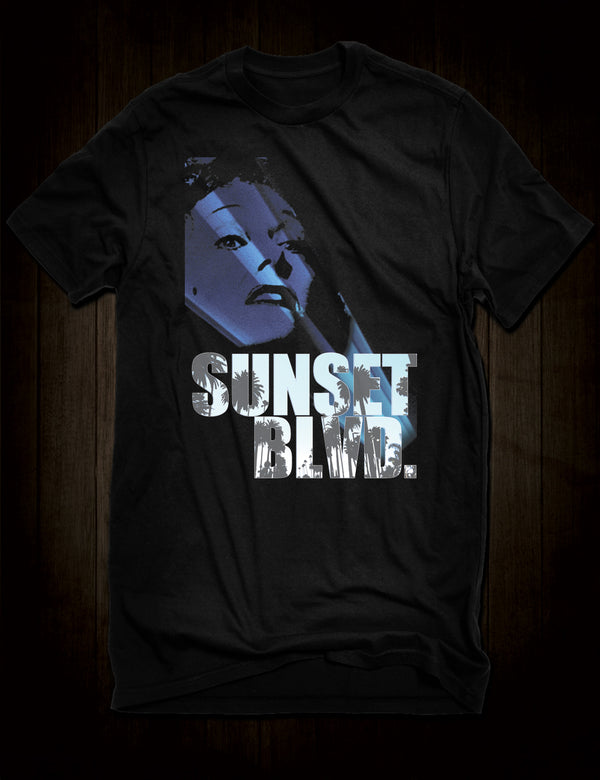 Sunset Boulevard Classic Noir Movie T-Shirt