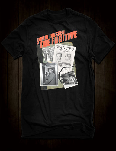 David Janssen The Fugitive T-Shirt
