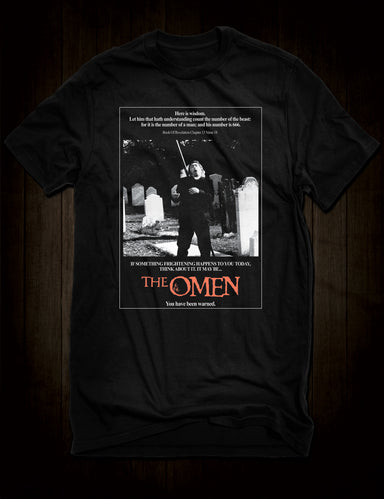 The Omen Horror Movie Poster T-Shirt Father Brennan