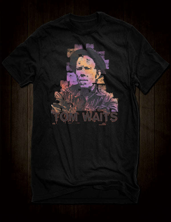 Tom Waits Watercolour Style T-Shirt