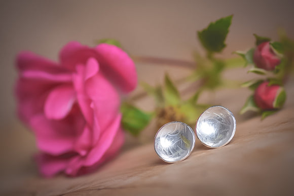 Sterling silver large stud earrings