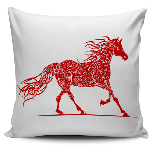 ornamental horse pillow cover