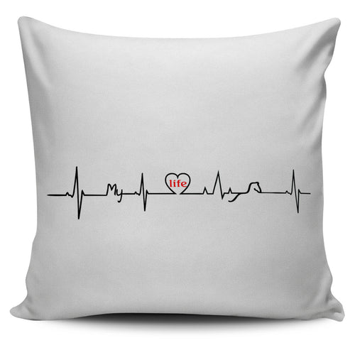 heartbeat pillow cover
