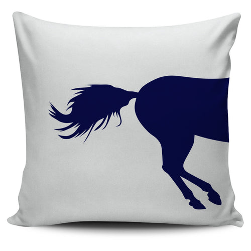 galloping horse over two pillow covers