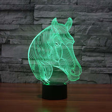 beautiful horse face 3d led lamp