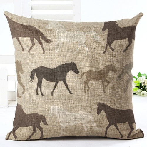 horses all over pillow cover