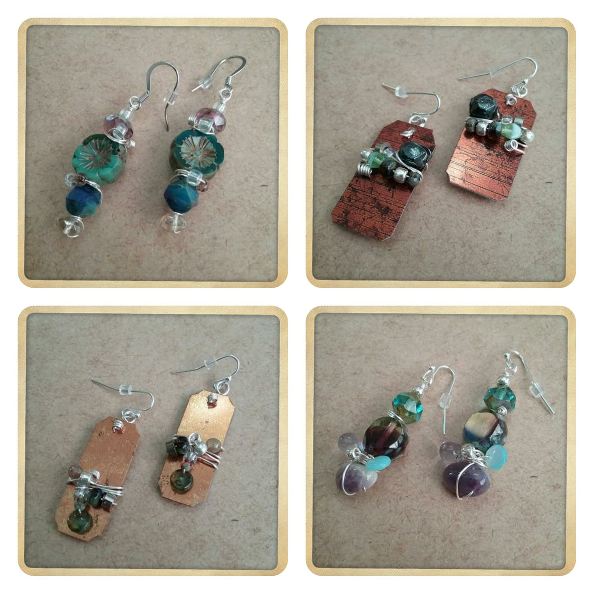 Coastal Inspired Earrings Made by a Fellow NC Artist