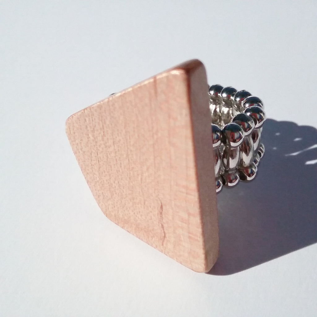 Maple Handcrafted Cocktail Ring