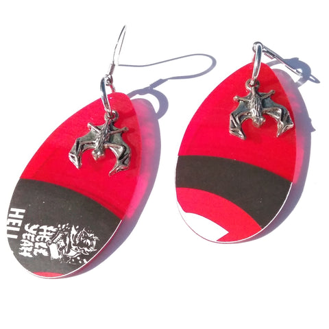 Red Vinyl Earrings *