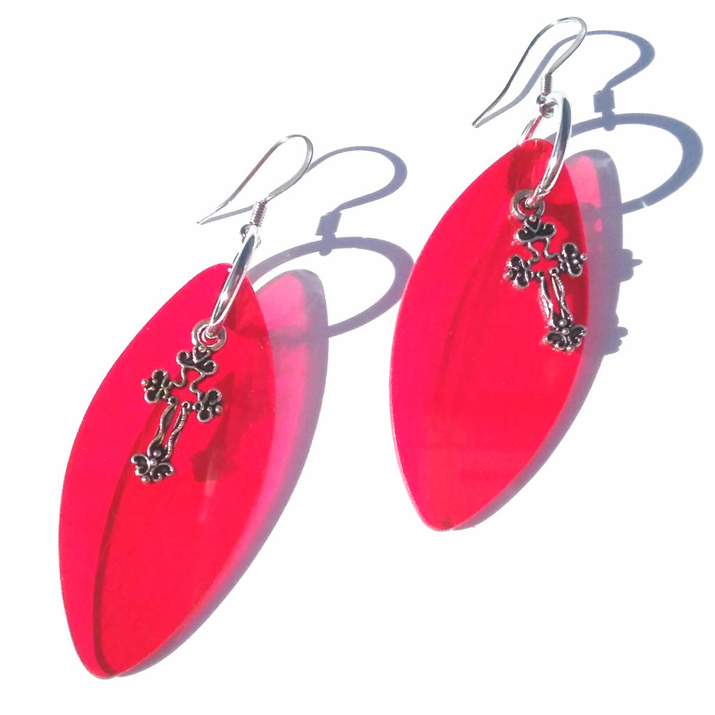 Red Vinyl Earrings