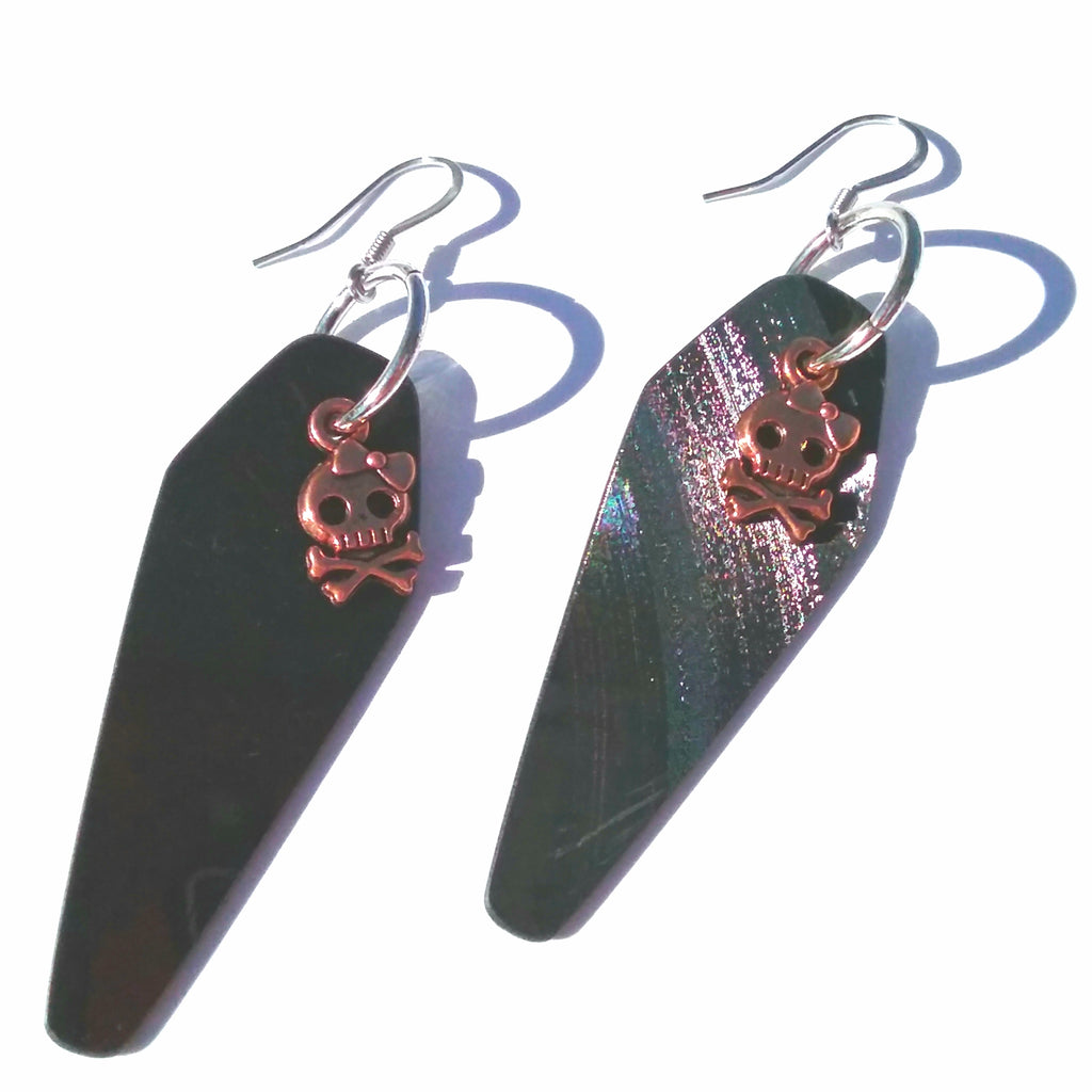 Black Vinyl Earrings *