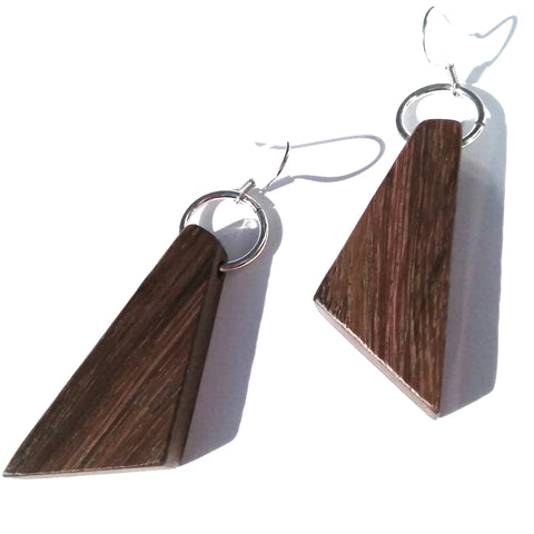 East Indian Rosewood Wood Earrings