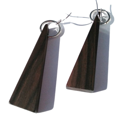 Macassar Ebony Wood Earrings