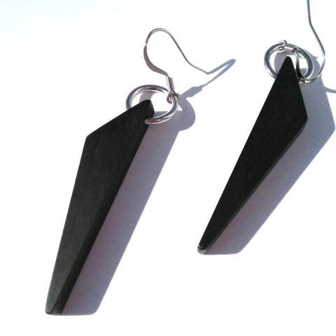 Gaboon Ebony Wood Earrings