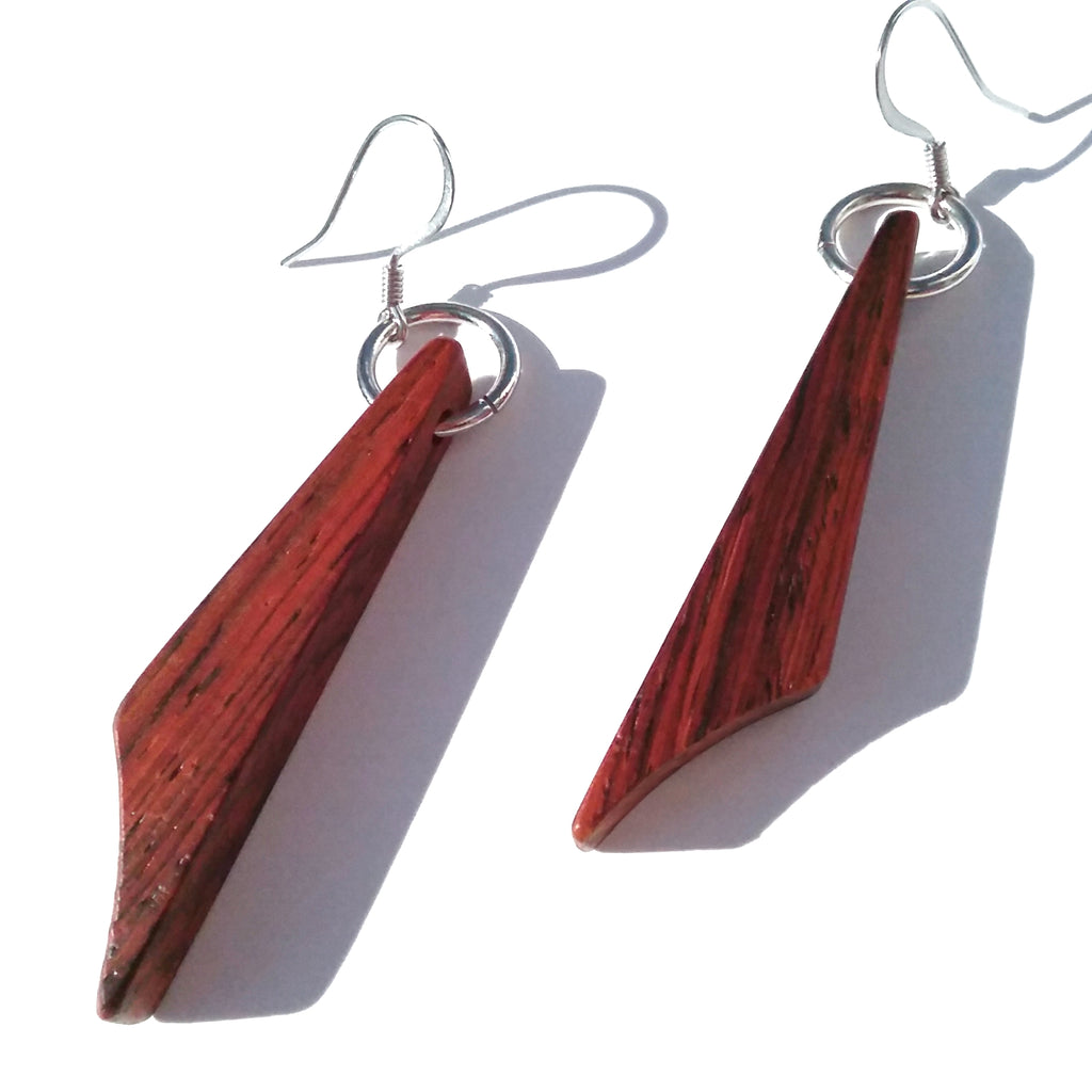 Cocobolo Wood Earrings