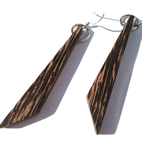 Black Palm Wood Earrings