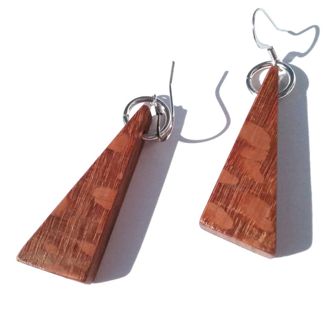 Leopard Wood Earrings