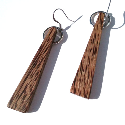 Red Palm Wood Earrings
