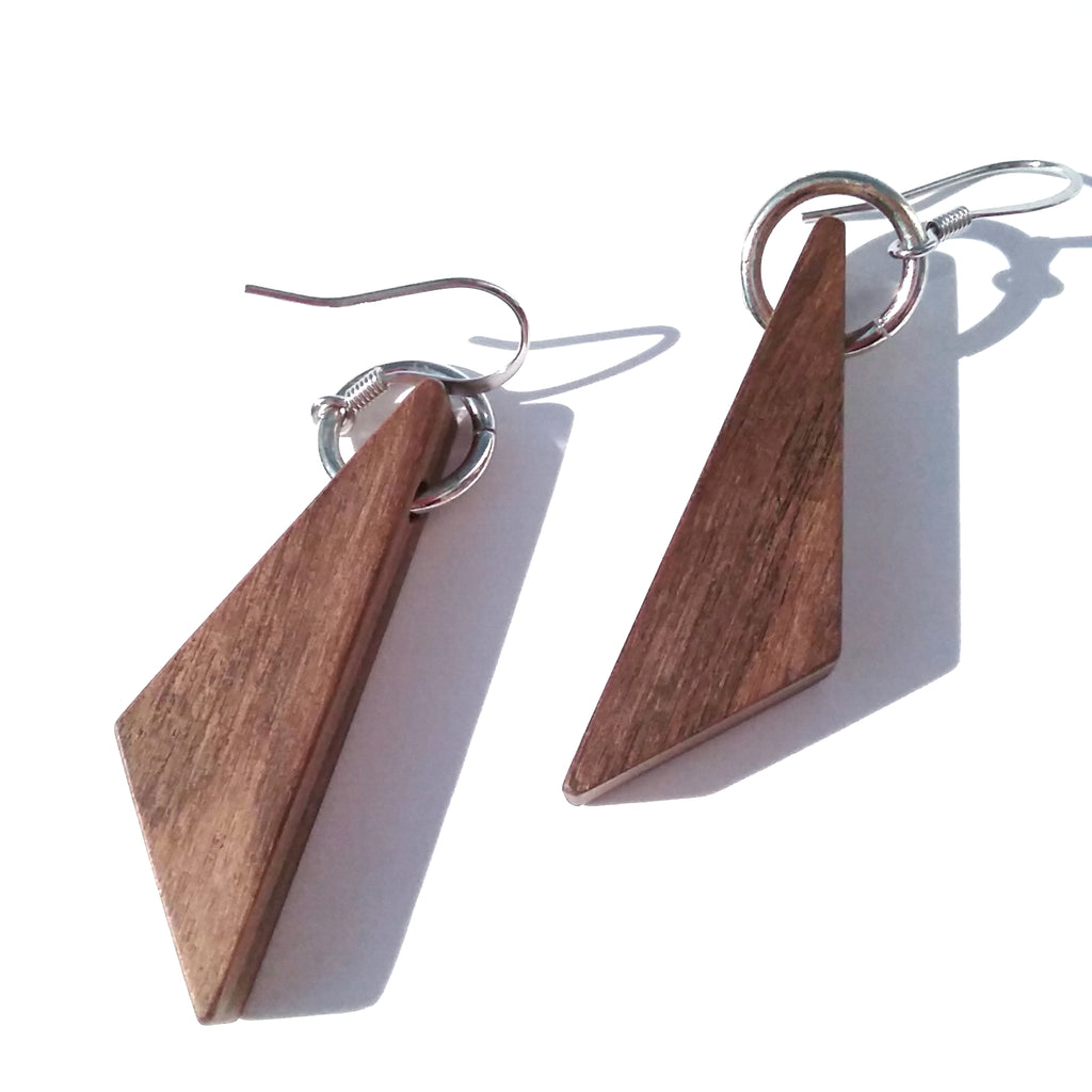 Bolivian Rosewood Wood Earrings
