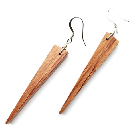 African Bubinga Wood Earrings