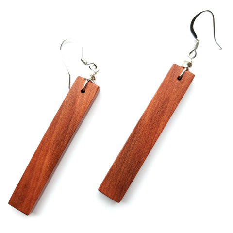South American Redheart Wood Earrings