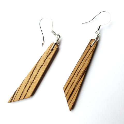 African Zebra Wood Earrings