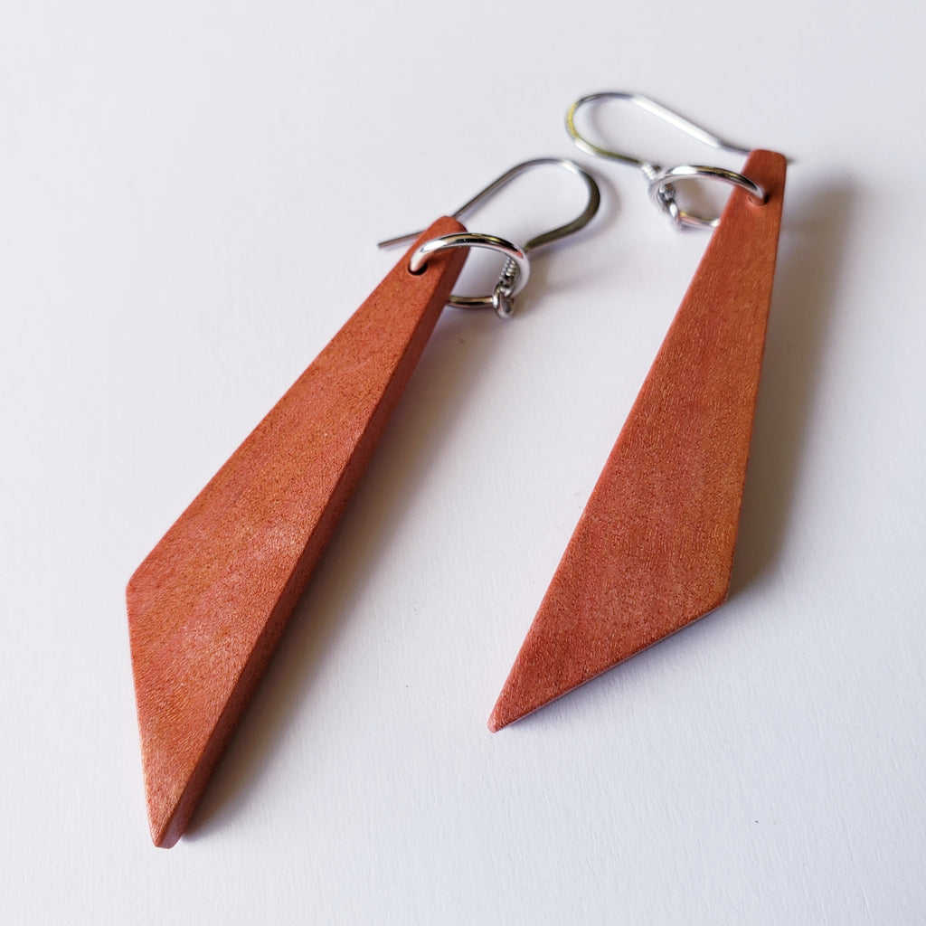 Southern African Pink Ivory Wood Earrings