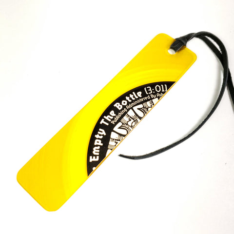 Yellow Vinyl Record Bookmark
