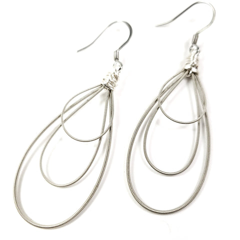 Teardrop Guitar String Earrings