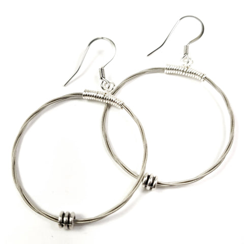 Guitar String Hoop Earrings