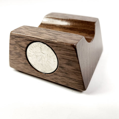 Walnut/Coin Inlay Cigar Rest