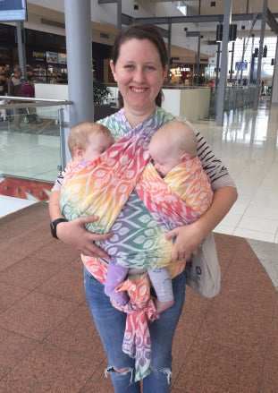 Carrying Twins In a Baby Wrap