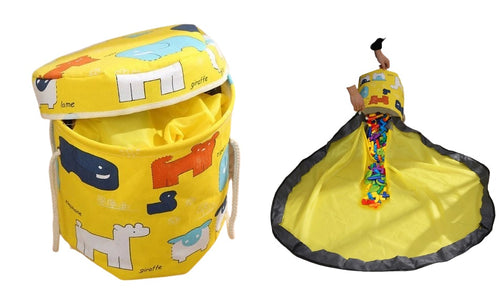 Kids Toy Storage Bin & Play-mat - Relaxedparent