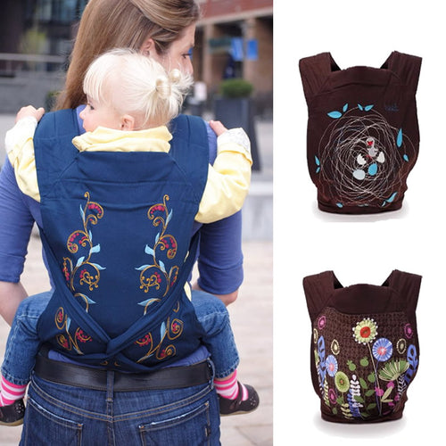 Embroidered Mei Tai Baby Carrier - Relaxedparent Baby Carrier, Baby Sling, Diaper Bag, Nappy bag, Swaddle