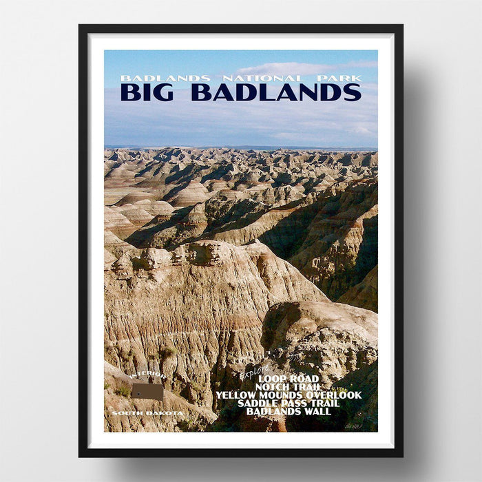 North and South Dakota National Park Posters