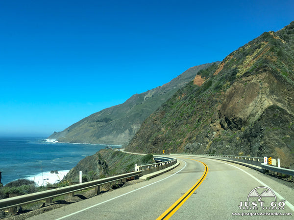 Driving Pacific Coast Highway in California