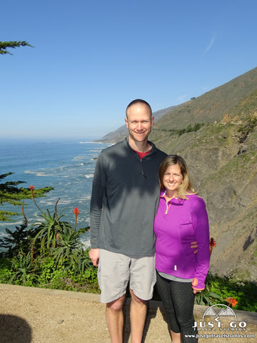 Amy and Pete from Just Go Travel Studios on the California Coast