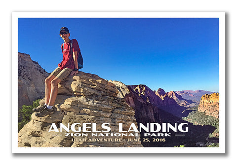 Angels Landing National Park Poster