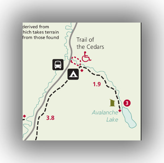 Map of Avalanche Lake