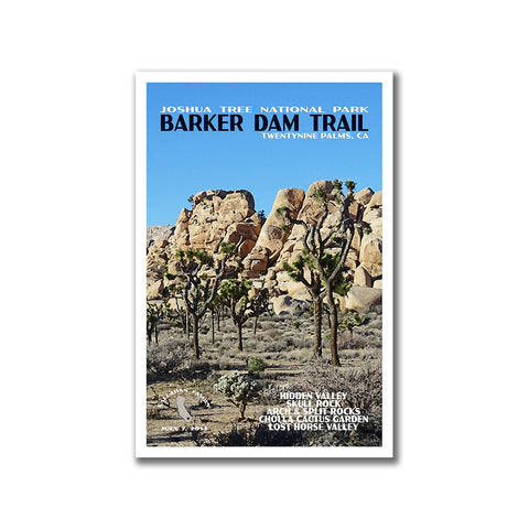 Custom, Vintage Style Joshua Tree National Park Poster