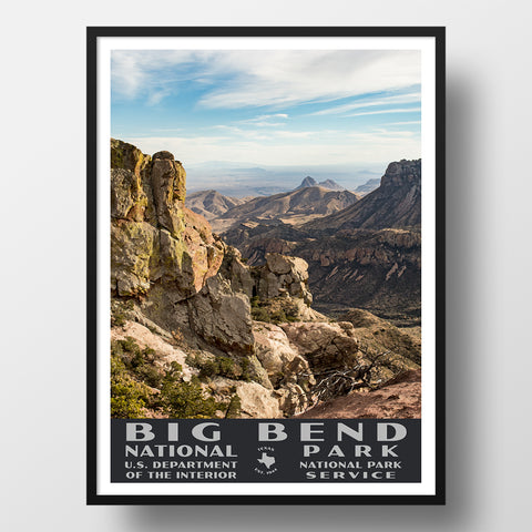 Lost Mine Trail Poster from Big Bend National Park