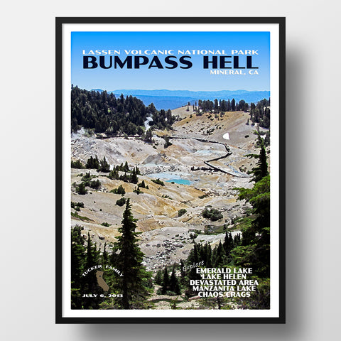 personalized bumpass hell lassen volcanic national park poster