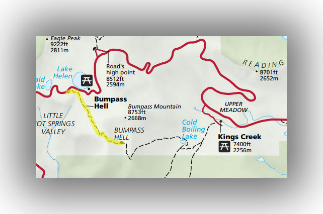 bumpass hell trail map in Lassen volcanic national park