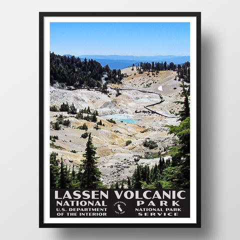 bumpass hell national park poster