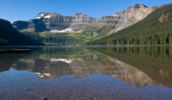 Cameron Lake in Waterton Lakes National Park