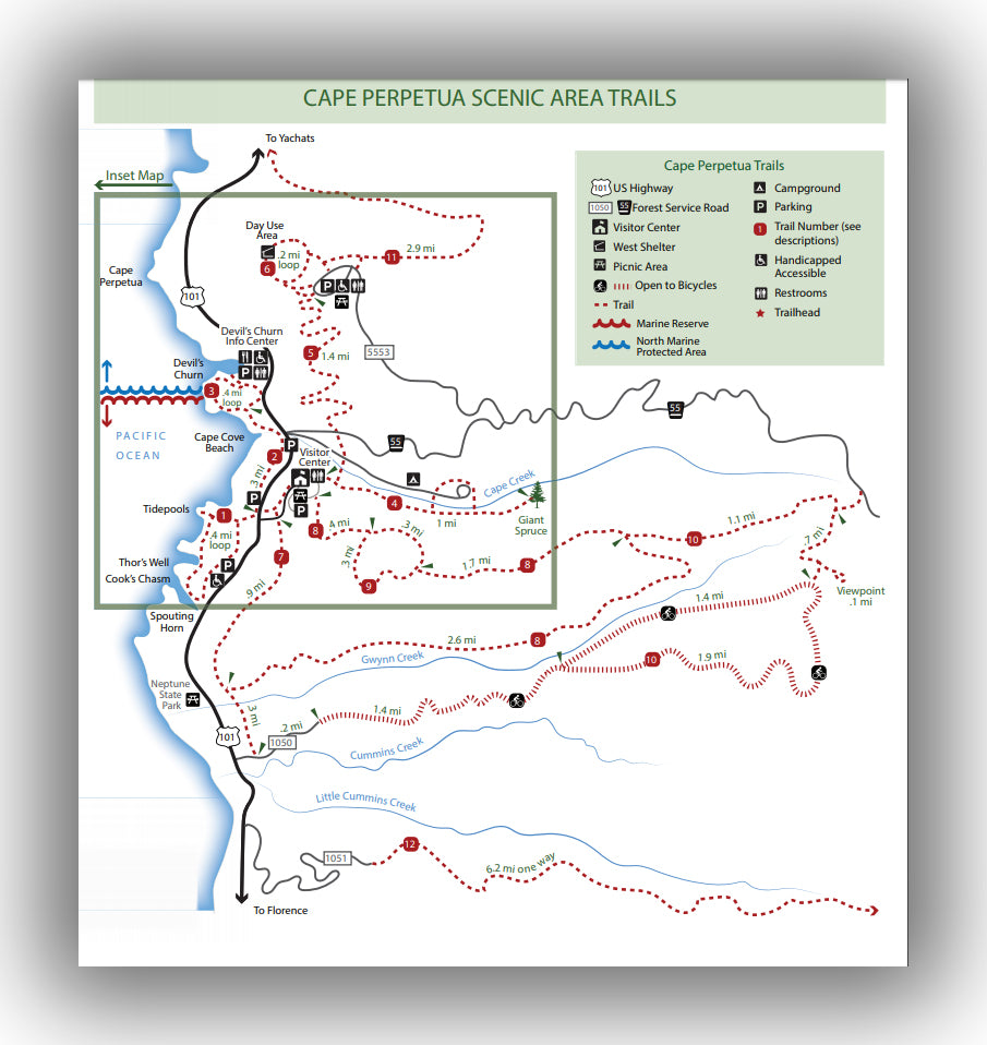 Cape perpetua trails map