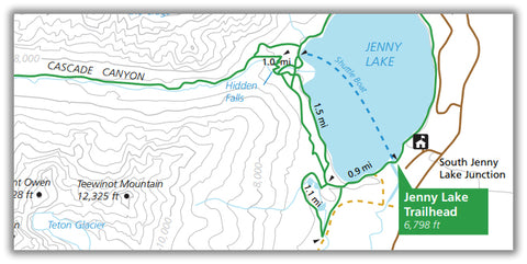 Just Go to Grand Teton National Park - Cascade Canyon Trail – Just Cascade Head Trail Map on